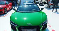 Mẫu mui trần Audi R8 V10 Plus Spyder màu độc xuất hiện ở lễ hội siêu xe Mỹ
