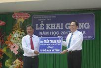 Chủ tịch MTTQ Việt Nam Trần Thanh Mẫn dự khai giảng tại Hậu Giang