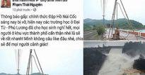 Phạt 12,5 triệu đồng người tung tin đồn vỡ đập hồ Núi Cốc trên Facebook