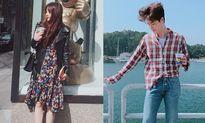 Sao Hàn 19/9: Lee Jong Suk bị gió 'phá rối', Hani mặc váy trông dịu dàng lạ
