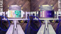 Video tra tấn iPhone 8 Plus và Galaxy Note 8 qua bài test thả rơi