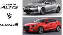 Toyota Corolla Altis 2017 tỉ thí Mazda3 2017: 'Đại chiến' giữa hai siêu phẩm