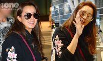 Kim Hee Sun khoe vẻ đẹp tuổi 40 tại sân bay Đà Nẵng