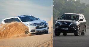So sánh Mitsubishi Pajero Sport 2017 và Toyota Fortuner 2017