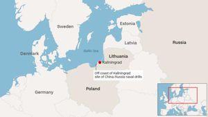 Tàu chiến Nga - Trung lần đầu tập trận chung ở biển Baltic