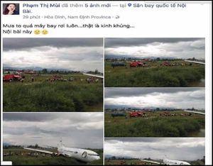 Triệu tập người tung tin 'máy bay rơi ở Nội Bài'