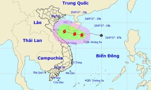 Áp thấp mạnh lên thành bão số 4, hướng vào Việt Nam