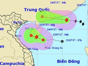 Hai cơn bão liên tiếp 'nối đuôi nhau' vào biển Đông