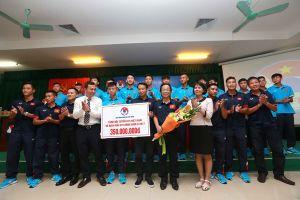 VFF mừng công vô địch Đông Nam Á của U.15 Việt Nam