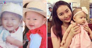 Phan Như Thảo so sánh ảnh mình lúc nhỏ với con gái cưng