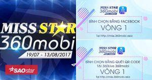 Thông báo bình chọn vòng 1 Miss STAR 2017 đã mở: các cô gái chính thức bước vào cuộc đua