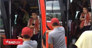 Clip nữ hành khách nước ngoài bị nhà xe giường nằm vứt đồ, đuổi đánh