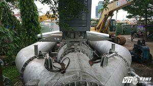 Cận cảnh siêu máy bơm 'không hết ngập không lấy tiền' ở Sài Gòn