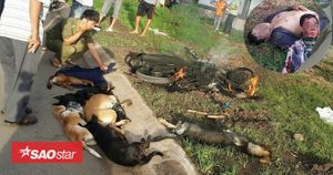 Trộm cả đàn chó, hai thanh niên bị người dân đuổi đánh rồi đốt rụi xe Exciter