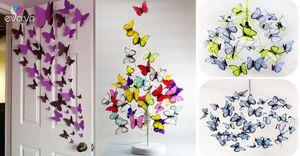 Rảnh tay 5 phút cắt gấp ngay đàn bướm sắc màu, trang trí nhà đẹp mê mẩn