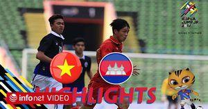 Highlight: U22 Việt Nam 4 - 1 U22 Campuchia