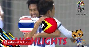 Highlights: U22 Thái Lan 1-0 U22 Đông Timor