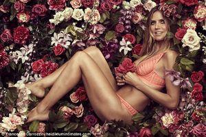 Heidi Klum hút hồn ra mắt sản phẩm 'nội y' mới