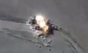 Video Nga dội bom nổ tung đoàn xe IS đang tháo chạy ở Syria
