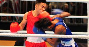 Võ sĩ boxing Huỳnh Ngọc Tân hạ knock-out Campuchia chỉ... 1 phút