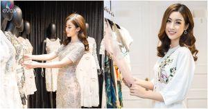"""Hoa hậu Mỹ Linh """"đội mưa"""" đi sự kiện sau khi trở thành đại diện Việt Nam thi Miss World"""