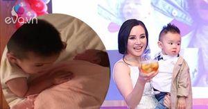 Cùng xem bé lớn nhà Vy Oanh ra dáng anh trai khi hát ru em ngủ