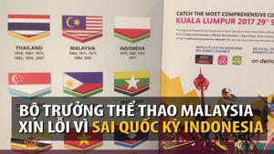 Ban tổ chức SEA Games in ngược quốc kỳ Indonesia