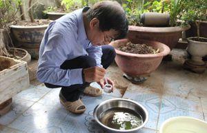 Vừa phun muỗi, Bộ trưởng Y tế đã phát hiện ra bọ gậy tại nhà dân