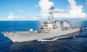 Tàu Mỹ đụng tàu chở hàng gần Singapore, 10 người mất tích