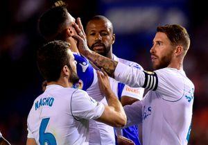 Tình huống nhận thẻ đỏ của Ramos ở ngay trận mở màn La Liga