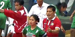 Bị trọng tài xử ép, đội cầu mây nữ Indonesia bỏ SEA Games