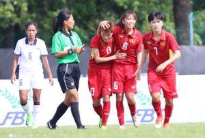 Tuyển bóng đá nữ Việt Nam bị Thái Lan cầm chân