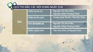 Lịch thi đấu SEA Games ngày 23.8 của đoàn thể thao Việt Nam