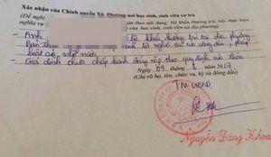 Cán bộ xã lại 'bút phê' gây khó cho tân sinh viên ở Hà Tĩnh