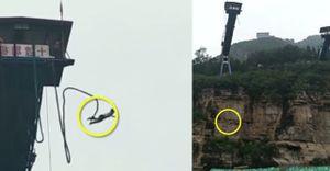 Đứt dây nhảy bungee, du khách Trung Quốc văng xuống sông