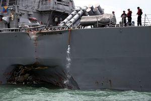 Mỹ tìm thấy thi thể thủy thủ trong chiến hạm bị đâm