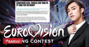 'Eurovision' mong muốn Sơn Tùng đại diện Việt Nam tham gia 'đấu trường' châu Âu?