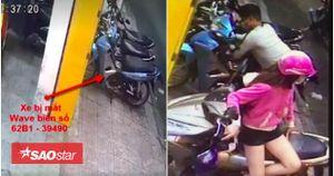 Clip dàn cảnh ăn trộm xe cực kỳ chuyên nghiệp ở Sài Gòn