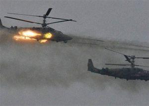 Trực thăng Nga trục trặc, bắn rocket trúng người xem tập trận