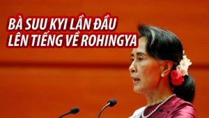 Bà Suu Kyi lần đầu lên tiếng về khủng hoảng di cư Rohingya
