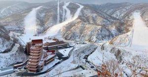 Lộ diện khu trượt tuyết tuyệt đẹp ở Triều Tiên