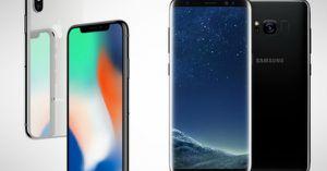 So kè hai 'kẻ thù' iPhone X và Samsung Galaxy S8