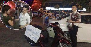 """Chàng giám đốc soái ca tặng nàng xe SH kèm bảng viết: """"vì em xứng đáng"""" gây xôn xao"""