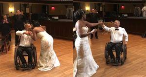 Xúc động cảnh người cha bị liệt 10 năm vẫn khiêu vũ cùng con gái trong ngày cưới