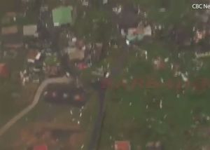 Cộng hoà Dominica hoang tàn nhìn từ trên không sau bão Maria