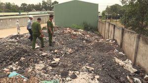 Cơ sở sản xuất thép đổ chất thải ra môi trường