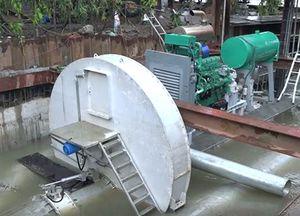 TP HCM thử máy bơm chống ngập khổng lồ khi có triều cường