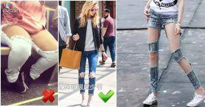 Xin đừng mặc quần jeans rách rưới một cách vô tội vạ