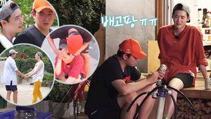 Chẳng động móng tay, Lee Jong Suk chỉ mải quấn quít với 'anh trai' Kyun Sang trên show truyền hình