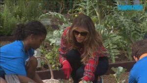 Đệ nhất phu nhân Melania Trump làm vườn tại Nhà Trắng